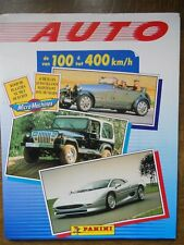 PANINI EMPTY ALBUM + 345 DIFFEREND  STICKERS AUTO VAN 100 TOT 400 KM/H