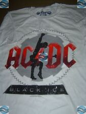 AC/DC ACDC T-SHIRT TEE SHIRT BLACK ICE vintage homme taille XL (016) neuf