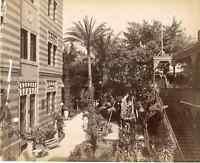 Lekegian, Egypte, Le Caire, Hôtel du Nil  Vintage albumen print,  Tirage a