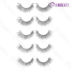 5 Pairs Super Natural False Eyelashes Handmade Fake Eye Lashes 22#