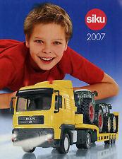 Prospekt Modellautokatalog Siku 2007 klein model cars D F GB Katalog Modellautos