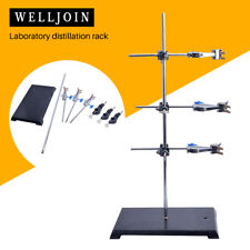 High Quality Lab Support Iron Retort Ring Stand Flask Clamp Stand With 3pcs Exte
