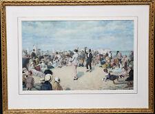 OWEN DALZIEL 1861-1942 BRITISH VICTORIAN BEACH MARINE PORTRAIT PAINTING ART 1883