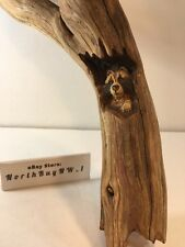 For Buyer: WDKOON only Raccoon Wood Carving SIGNED Vintage RARE (4 Item Lot)