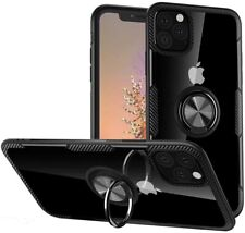 iPhone 11 Pro Max 6.5in Case Hybrid Soft Grip Matte Finish Clear Back Panel Thin