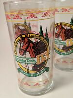 Four Vintage Kentucky Derby Mint Julep Glasses 1987 Santa Anita NIB