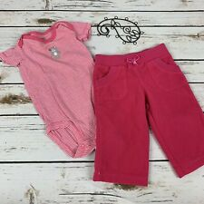 Carter's Girls Outfit Pink Size 6 Months Short Sleeve