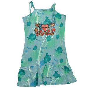 Las Vegas Sin City Casino Vacation Blue Green Dress Cover Up Ladies Womens Beach