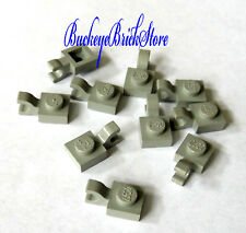 Lego LIGHT GRAY PLATES 1x1-  w/Horizontal Clip  Lot/10  4483 5591 7470