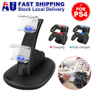 For Playstation 4 PS4 Controller Charger Dock Dual Stand Charging Station Pad