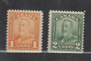 1928-1929 #149 1¢ &  #150 2¢ KING GEORGE V SCROLL ISSUE  F+NH