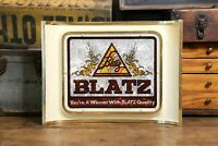 VTG 1970s Blatz Beer 3D Plastic Sign Brewing Collectible Milwaukee Advertising