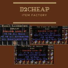 Mara's + 2x Stone of Jordan - Diablo 2 Europe / East / West Ladder & NON