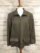 Lauren Ralph Lauren Women's 100% Pure New Wool Zip Up Blazer Jacket 16W NWT