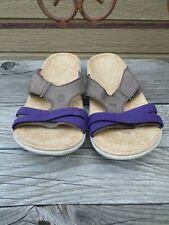 Spenco Brown/Purple Slides Sandals Women's 9
