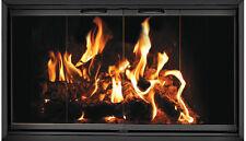 Black Fireplace Glass Doors for Martin fireplace MT41