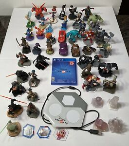 Disney Infinity PS4 Game Star Wars Marvel Cars Frozen 1.0 2.0 Lot Of 46 Plus