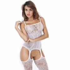 White Sexy Sling Open Crotch Body Stocking Fishnet Bodysuit Nightwear Lingerie