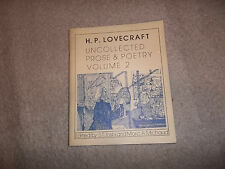 Call of Cthulhu Necronomicon H P Lovecraft Uncollected Prose & Poetry vol 2