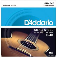 D 'Addario EJ40 Seda & Acero Guitarra Acústica Cuerdas Ligero - 11-47