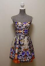 WOMENS ASOS DRESS OFF SHOULDER FLORAL DRESS, Sz 12 (#0679)