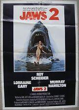 "Lebanese Theatrical 1 sht JAWS 2 Movie Poster 27.5x39"" Horror Film 1978 F/VF C7"