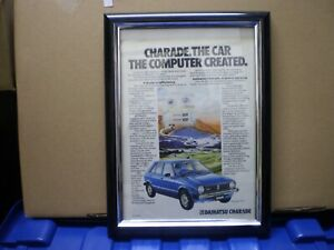 DAIHATSU G10 CHARADE 1980 ORIGINAL ADVERTISEMENT (MODERN MOTOR) FRAMED USED