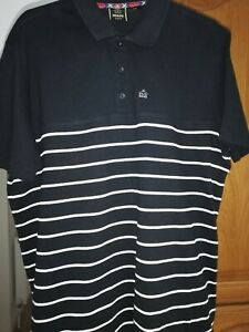 MERC of London- Man's T. Shirt- Black and white stripes. size large