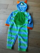 Baby's Monster Outfit age 9-12 Months with Hood - Blue Green -NEW-All I One Play