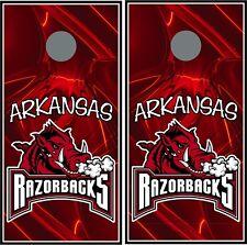 Arkansas Razorbacks 0123 custom cornhole board vinyl wraps stickers posters