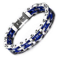 bracelet chaîne de vélo/moto acier inoxydable bijou mode taille 20cm Largeur 9mm