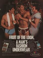 1984 Fruit of the Loom Men's Underwear Vintage Ad Sexy Guys Football Locker Room