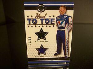 Insert Scott Riggs Wheels HEAD TO TOE 2007 Card #HT 11 RACE-USED HAT SHOE 70/99