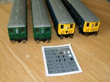 OO Scale Southern Region 2 Character Stencil headcodes for Hornby 2 BIL & EMUs