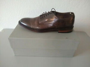 Officine Creative Cornell Canyon Size 44 Ebano Brown Leather Derby Dress Shoe