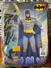 NEW Deluxe Adult Batman Muscle Chest Hero Gotham City Halloween Costume SMALL