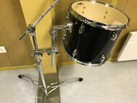 TFM ADD2 Set Tom Tom 14x12 in black + Cymbalboomstand + Tomholder + Clamp NEU