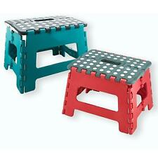 More details for small folding step stool strong multi purpose easy storage plastic home kitchen