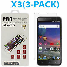 3 PACK 9H Real Premium Tempered Glass Screen Protector for ZTE ZMax Pro Z981