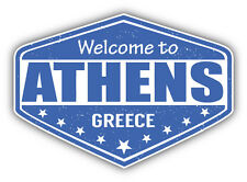 "Athens City Greece Grunge Travel Stamp Car Bumper Sticker Decal 5"" x 4"""