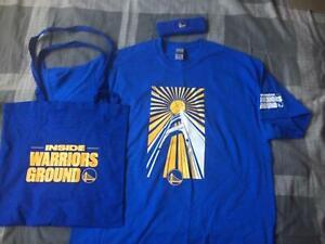 Golden State Warriors INSIDE WARRIORS GROUND XL Shirt - Bag, headband & program