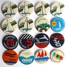 1980 Moscow XXII Olympics Games SAILING Regatta TALLINN Pins Set of 16