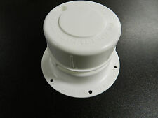 RV Camper Trailer Roof Vent cap, Plumbing Sewer w/Removable Top -White - New