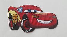 Large Lightning McQueen Iron On Patch - Cars Clothing Applique - READY TO SHIP!
