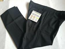NWT Men's HAGGAR SZ 36/30 Black Performance Pants Flex Waistband
