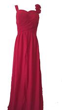 abito donna cerimonia damigella vestito lungo ROSSO vestido fiesta noche