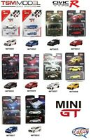 1/64 TSM MINI GT Honda Civic TYPE R FK8 LHD Diecast Model Car Colors MGT Series