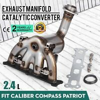 2007 - 2010 Fit Jeep Patriot 2.4L Exhaust Manifold with Catalytic Converter New