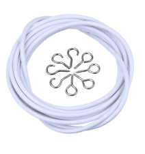 Curtain Wire White Window Cable With FREE HOOKS & EYES Choose Lengths
