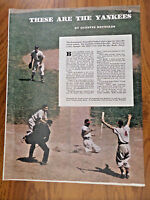 1947 Article Photo Ad Baseball These are the New York Yankees